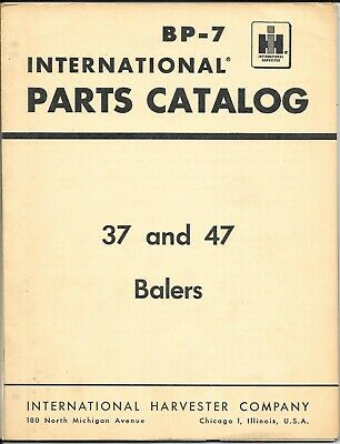 Original 1963 International 37 47 Twine And Wire Balers Parts Catalog Manual