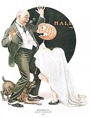 Norman Rockwell trick or treat print