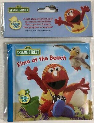 "Elmo Bubbles (123 Sesame Street Bath Time Bubble Book, Toy, ""ELMO AT THE BEACH"")"