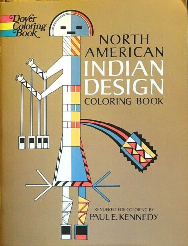 NEW!l North American Indian Design Coloring Book -  Native American Indian Book