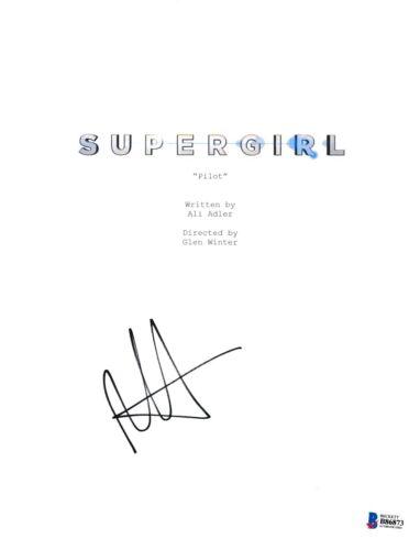 MELISSA BENOIST SIGNED SUPERGIRL PILOT SCRIPT COVER BECKETT BAS AUTOGRAPH AUTO