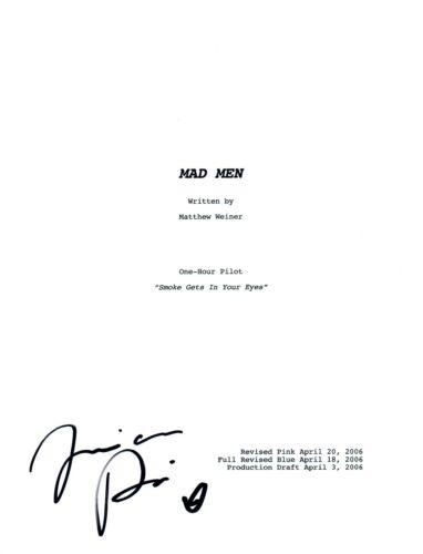 Jessica Pare Signed Autographed MAD MEN Pilot Script COA