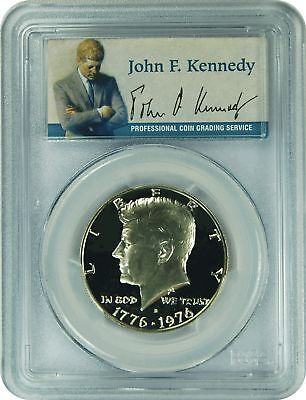 1976-S PCGS PR69DCAM Kennedy SILVER Half Dollar (Presidential Label)