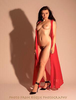 Modern Nude Woman with Shadow 8.5x11
