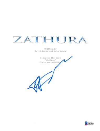 JON FAVREAU SIGNED ZATHURA FULL MOVIE SCRIPT BECKETT BAS AUTOGRAPH AUTO