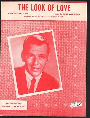 The Look of Love  1962 Frank Sinatra Sheet Music