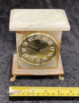 vintage onyx Battery Operated Mantle Clock