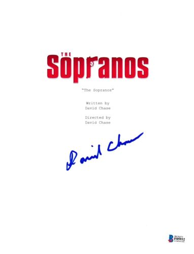 DAVID CHASE SIGNED THE SOPRANOS PILOT EPISODE SCRIPT BECKETT BAS AUTOGRAPH AUTO