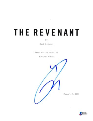 TOM HARDY SIGNED THE REVENANT SCRIPT BECKETT BAS AUTOGRAPH AUTO COA