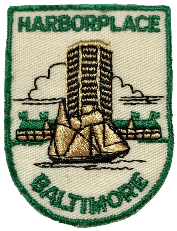 HARBORPLACE • BALTIMORE • WORLD TRADE CENTER State Of MARYLAND Patch Emblem