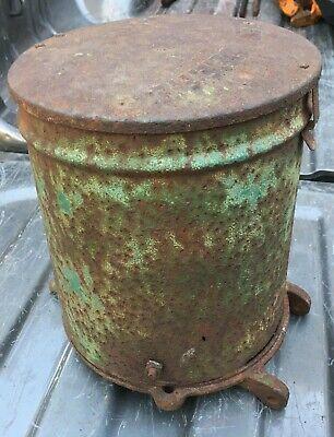 Seed Planter Hopper Bin Vintage Antique John Deere Green Box