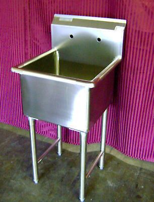 New 24 X 24 Sink Stainless Steel Nsf 1 Single Mop Compartment Commercial 7003