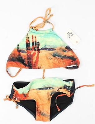 Billabong Jugendliche Mädchen Wüste Bikini Satz Bademode Multi 10 Neu