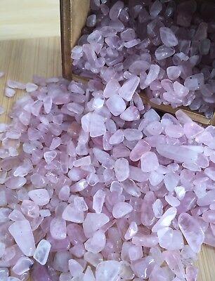- Tumbled Gemstone Natural Crystal Rose Quartz Chip Stone 5g Small TypeB