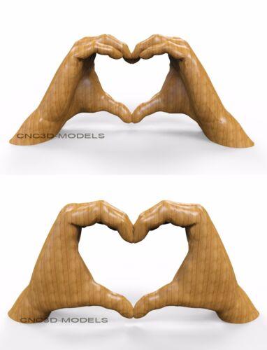 3D MODEL STL for CNC Router Engraver Carving Relief Artcam Aspire Heart 8452
