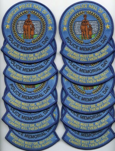 POLICE HALL OF FAME WASHINGTON DC Trade Stock 10 Police Patches POLICE PATCH