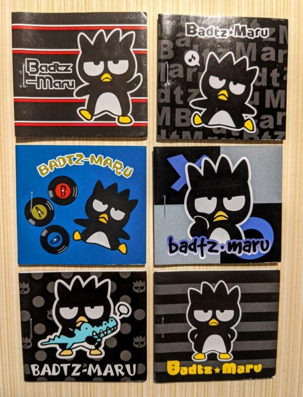 Full Set of 6 BADTZ-MARU 1998-2012 Sanrio Mini Sticker Books