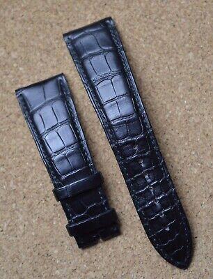 Blancpain Black Alligator 22mm 22/18 Strap Band