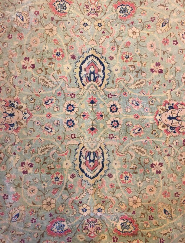 Fantastic Floral - 1920s Antique Oriental Rug - Handmade Carpet - 9.5 X 13 Ft