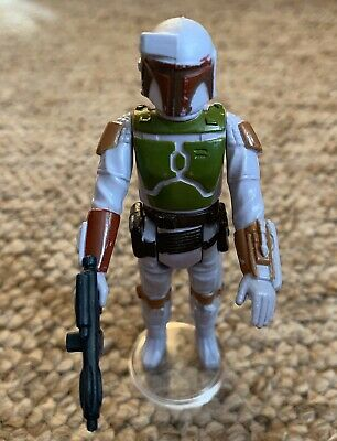 Vintage Star Wars Trilogo PBP Boba Fett Unpainted Knee & Dart Action Figure