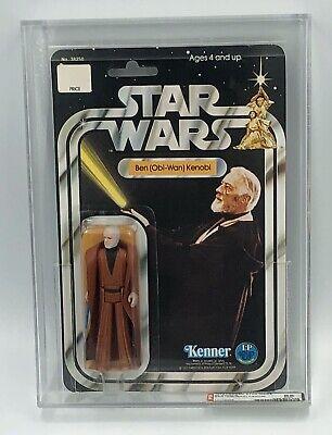 VINTAGE KENNER STAR WARS 20 BACK-A BEN KENOBI AFA 85 (85/85/85) MOC CASE-FRESH