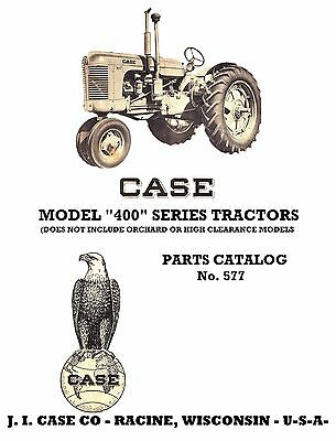 Case 400 Tractor Parts Catalog Book Reproduction
