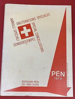 Handbook of Switzerland Special Cancellations, in 4 Ring Binder