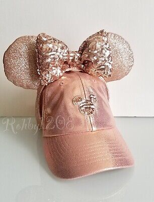 Disney Parks Briar Rose Gold Minnie Ears Hat Mickey Icon Baseball Cap Set Adult - Mickey Ears Hats