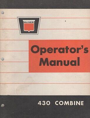 Sept. 1964 Oliver 430 Combine Operators Manual Pn 446 501 212