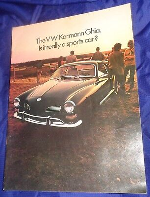 BG727 Vtg VW Volkswagen Karmann Ghia Dealer Sales Brochure 1970 for sale  Bobcaygeon
