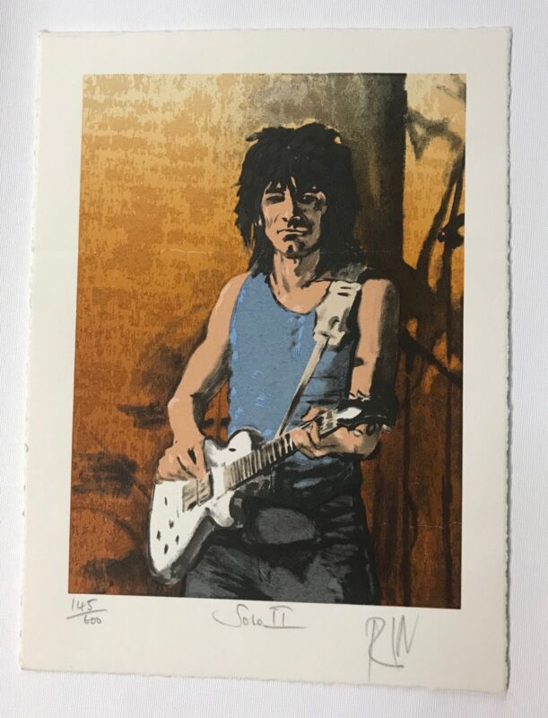 Ron Wood rolling Stones numbered lithogragh