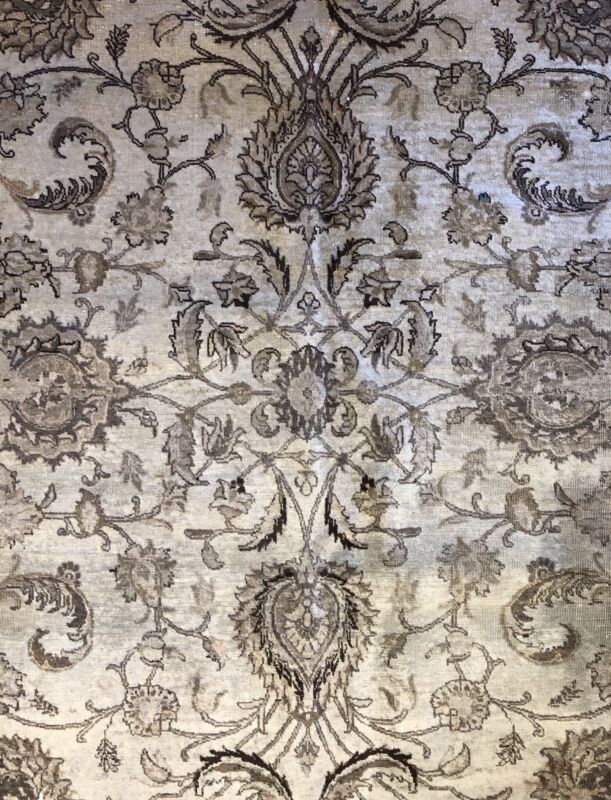 Fantastic Floral - 1930s Antique Oriental Rug - Handmade Carpet - 9.10 X 13 Ft
