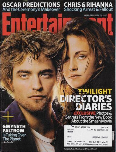 Kristen Stewart Signed Twilight Entertainment Magazine COA Autograph Pattinson