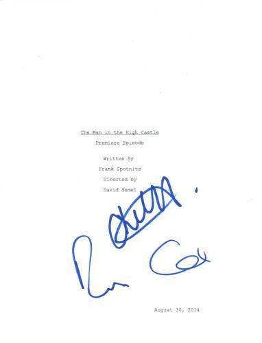 Rufus Sewell & Chelah Horsdal Signed The Man In The High Castle Pilot Script COA