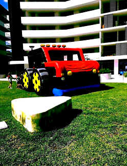 Monster truck jumping castle hire