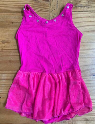 FREESTYLE by Danskin Girl's Size S Dark Pink Leotard w Skirt Ballet Outfit EUC