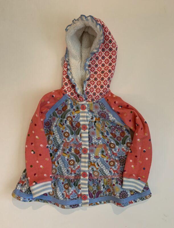 Matilda Jane Floral Fox Button Up Play Coat Jacket Toddler Girls Size 12-18M