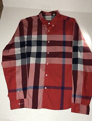 Burberry Brit Mens Shirt Size XXL Button Down Signature Nova Check Long Sleeve