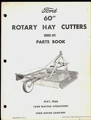 1968 Ford 60 Hay Cutter Part Manual