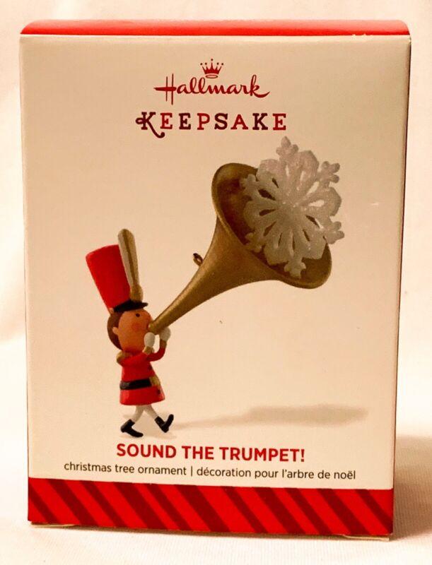Hallmark Keepsake Sound The Trumpet Ornament 2014 NEW OLD STOCK