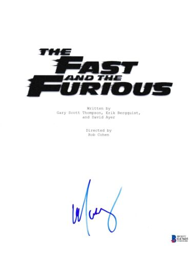 MICHELLE RODRIGUEZ SIGNED FAST AND FURIOUS SCRIPT BECKETT BAS AUTOGRAPH AUTO COA