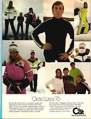 1973 Arctic Cat Wear Snowmobile Suits 1972 Vintage Print Ad