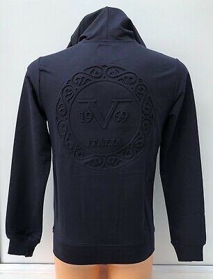 VERSACE 1969 Navy Hooded Full Zip Track Top Jacket Hoodie Size XS BNWT