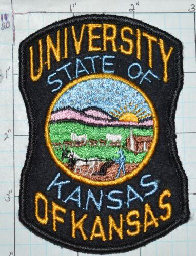 KANSAS STATE UNIVERSITY POLICE? VINTAGE FELT PATCH
