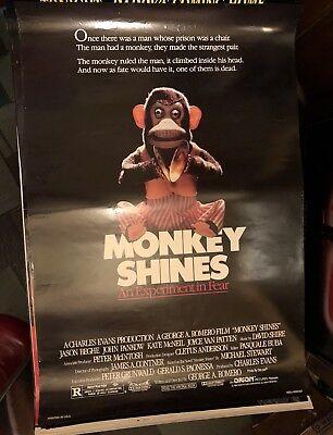 MONKEY SHINES (1988) George Romero, Jason Beghe SS One Sheet