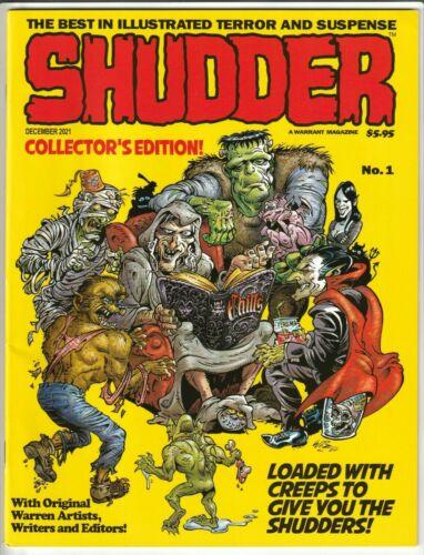 SHUDDER MAGAZINE #1 (FORMALLY CREEPS) DEC 2021 NM 9.4 UNREAD WARRANT IN STOCK