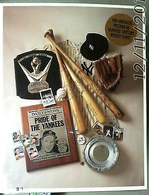 1993 Whitey Ford Print By Henry Groskinsky New York Yankees 1st Print W/ COA!