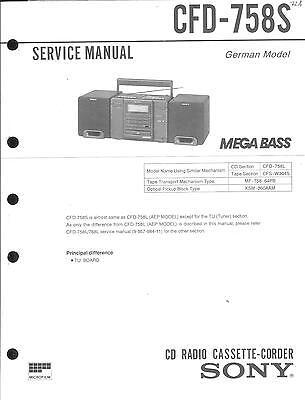 Sony Original Service Manual für CFD-758 S