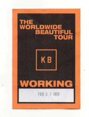 Kane Brown 2020 The Worldwide Beautiful Tour Working Crew Backstage Pass