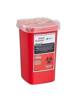 Adirmed Sharps Needle Bio-hazard Disposal Container 1 Quart - 1 Pack